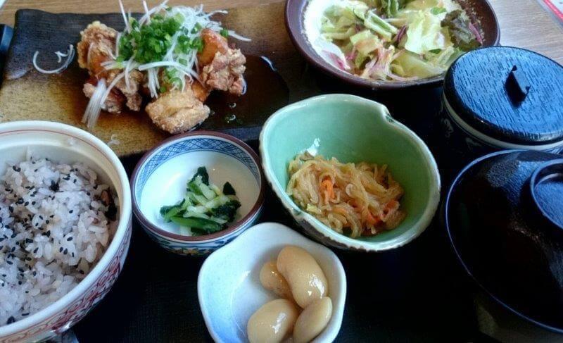 藍屋 若鶏の甘酢あん定食