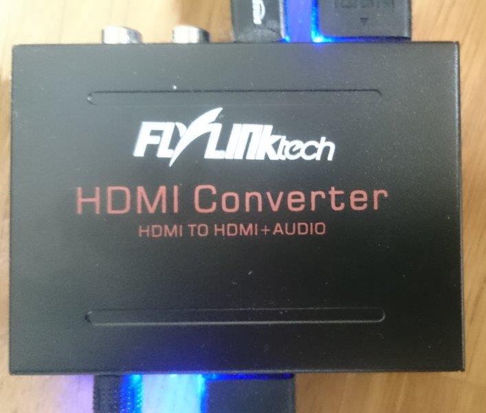 Flylinktech hdmi音声分離器 接続方法